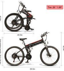 Fashion Fast SH26 E-Bike Electric Bicycles 26 Inch Motor-driven electric bike Bicycle Mountain Vehicle bicicleta electrica ebike Car & Vehicle Electronics