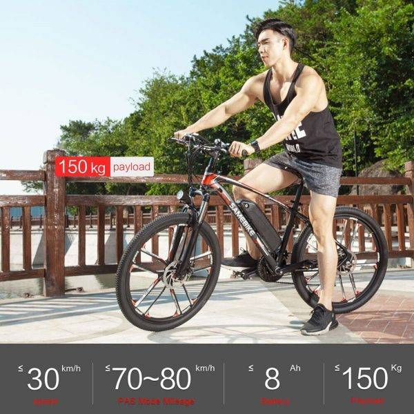 Samebike MY-SM26 26 Inch Electric Bike 350W 48V 8AH Motor Moped Bike IP64 Water-resistant 30km/h High Speed E-bike In Stock Car & Vehicle Electronics