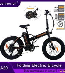 AOSTIRMOTOR Electric Bike 20 Inch Electric Folding Bike Fat Tire Bicycle Snow Beach Ebike 500W 36V 13Ah Lithium Battery Bike Car & Vehicle Electronics
