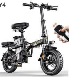 New Electric Bike 14inch Mini Electric Bicycle 48V32A LG city ebike 350W Powerful Bike 32km/h Full throttle sctooer city e bike Car & Vehicle Electronics