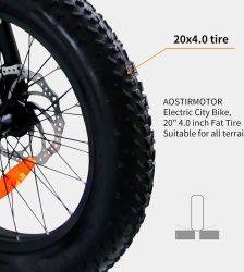 AOSTIRMOTOR Electric Bicycle 20 Inch Electric Folding Bike Fat Tire Snow Beach Ebike 500W 36V 13Ah Lithium Battery Bike Car & Vehicle Electronics