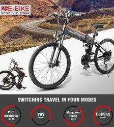 Samebike 20/26Inch Folding Electric Bike Power Assist Electric Bicycle Conjoined Rim Scooter 48V 10AH 350W Motor Mountain E-Bike Car & Vehicle Electronics
