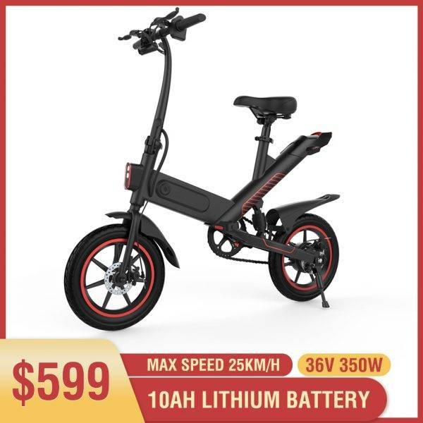 350W Electric Bike 10ah Lithium Battery Electric Bicycle 14 inch Folding ebike 50km Range Women Men e-bike City Mini e bike Car & Vehicle Electronics