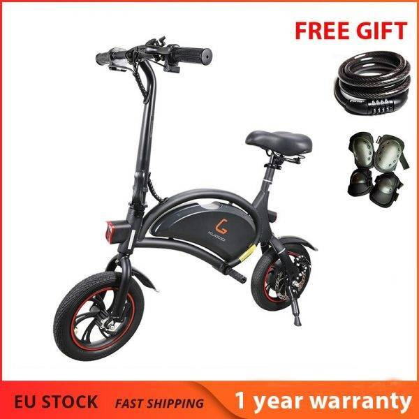 Europe Stock KUGOO Kirin B1 Folding Moped Electric Bike 250W Brushless Motor Max Speed 25km/h 6AH Lithium Battery Disc Brake Car & Vehicle Electronics