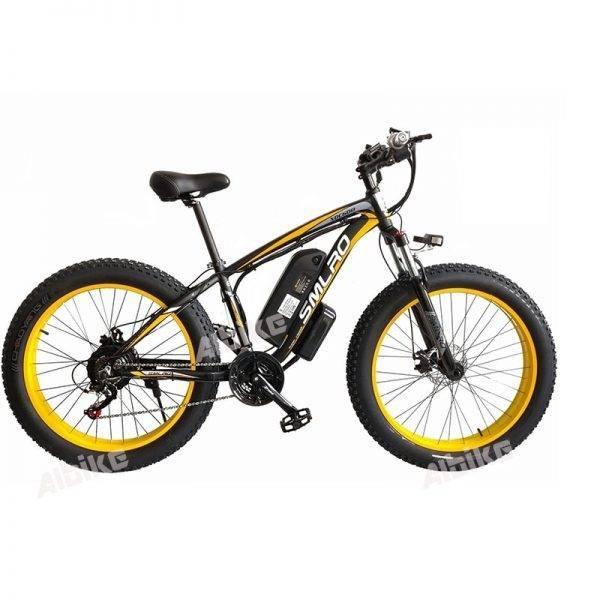 Electric bike 48V 1000W Electric Fat bicycle 17Ah Lithium battery ebike electric mountain bike Beach Bikes Electric Bicycles Car & Vehicle Electronics