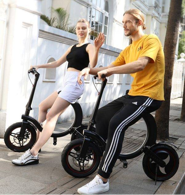 No Tax ! EU/US Stock New High Quality Electric Bike 7.8Ah Battery 14 inch Foldable Electric Bicycle Scooter 35KM Range LWT Car & Vehicle Electronics