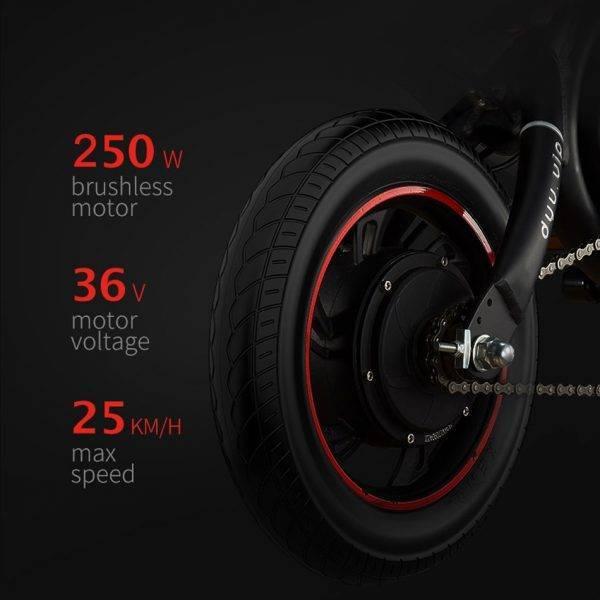 250W Electric Bike for Women 14 Inch Mini Electric Bicycle 36V10AH Lithium Battery city ebike 25km/h Folding e bike Scooter Car & Vehicle Electronics