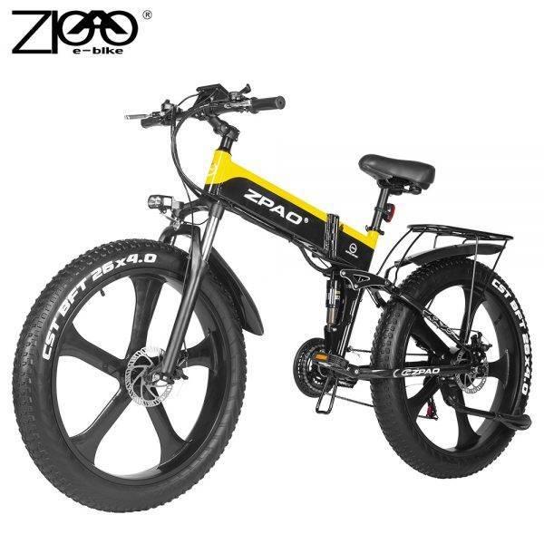 ZPAO Fat Bike e Bike 1000W Folded Electric Bicycle Electronic Bikes Bicicleta Electrica Adulto Mountain Electrical Bicycles Car & Vehicle Electronics