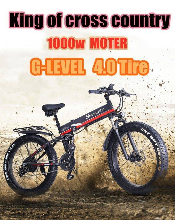 sheng milo electric bicycle fat tire 26 inch Motorcycle e bike 1000w 48v electric New pattern folding Mountain bicycle Car & Vehicle Electronics