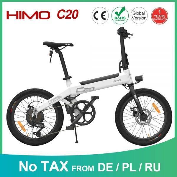 【EU Service 】HIMO C20 Electric Bicycle Moped E-Bike Power Assist 20 Inch 10AH 250W DC Motor 25km/h 80KM Range Portable Ebike Car & Vehicle Electronics