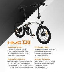 【EU STOCK】80KM Mileage HIMO Z20 Folding Electric Bicycle Ultra-Dynamic Dual Mode E-Bike 250W Moto HD LED Display Urban/Park Bike Car & Vehicle Electronics