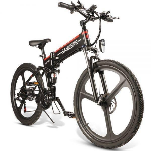 EU Stock Samebike 26″ Electric Bike 10AH 48V 350W 21 Speed Electric Bike Folding Mountain E-bike Car & Vehicle Electronics