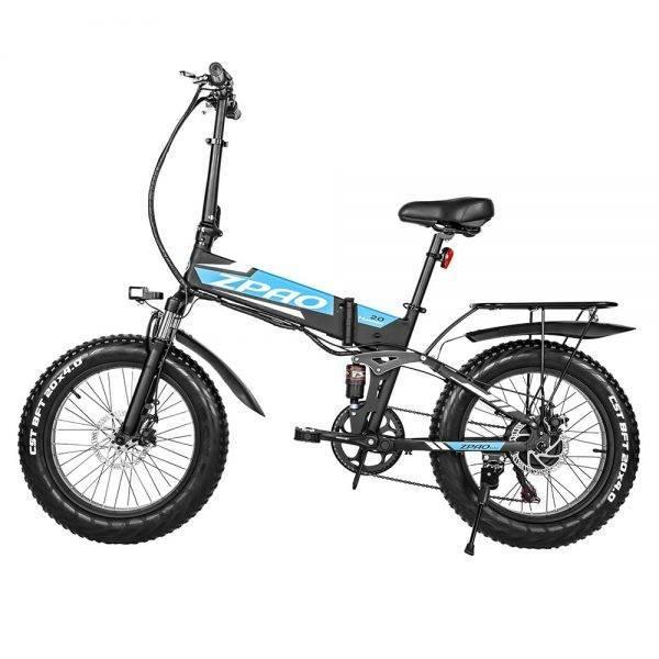 ZPAO Cheap Electric Fat Bike Beach Cruiser Bicycle Electric 500W 48V 12.8ah Lithium Battery Electric Mountain Bike Foldable Bike Car & Vehicle Electronics