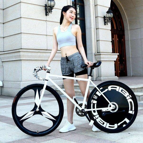 Road Bike Men and Women Student Models Captain America Inverted Brake Riding Solid Tire Bicycle Adult Vehicle Fluorescent Car & Vehicle Electronics