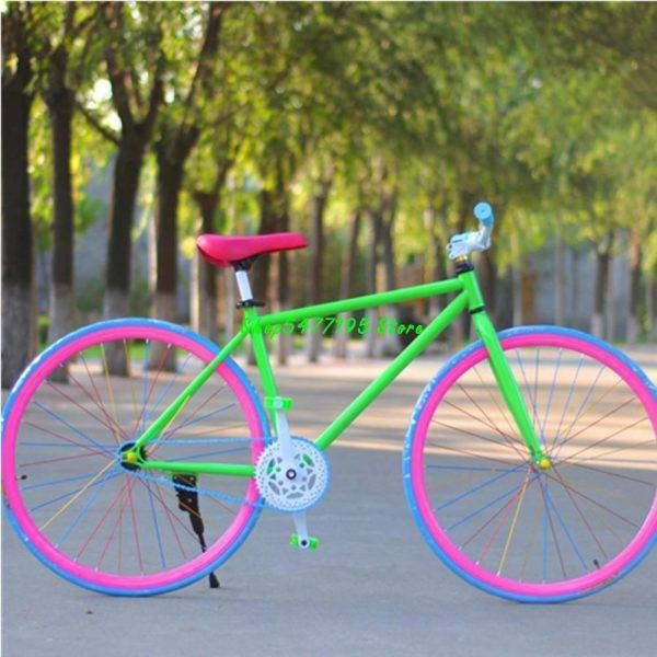 26 Inch Luminous Bright Fixed Gear Bike 30 Knife Adult Single Speed Road Bicycle For Men And Women Students Professional Sport Car & Vehicle Electronics