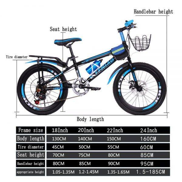 22 inch 7 Speed MTB Mountain Bike for Men Women Boys Girls Students Shock Absorbers Bicycle Portable Bicycle with Mudguard Car & Vehicle Electronics