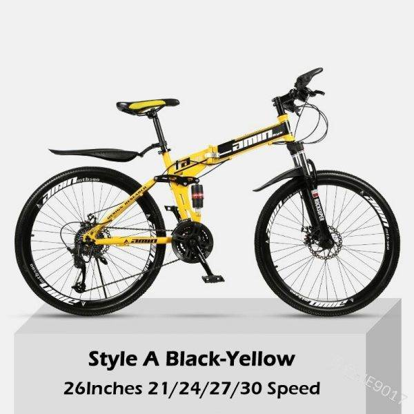 26 Inch 30 Speeds Folding Mountain Bikes Adult Women Men Commuting Bicycle Spoke Wheel/ Integrated Wheel Mountain MTB Bicycles Car & Vehicle Electronics