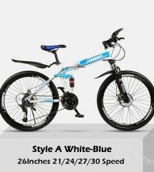 26 Inch 30 Speeds Folding Mountain Bikes Adult Women Men Commuting Bicycle Spoke Wheel/ Integrated Wheel Mountain MTB Bicycles Car & Vehicle Electronics