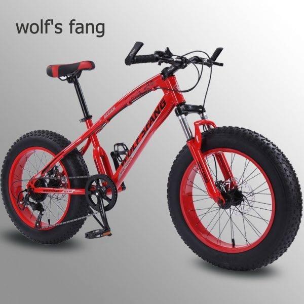 wolf's fang bicycle mountain bike 7 /21 speed 2.0″X 4.0″bicycle Road bike fat bike Disc Brake Women and children Snow Bicycle Car & Vehicle Electronics