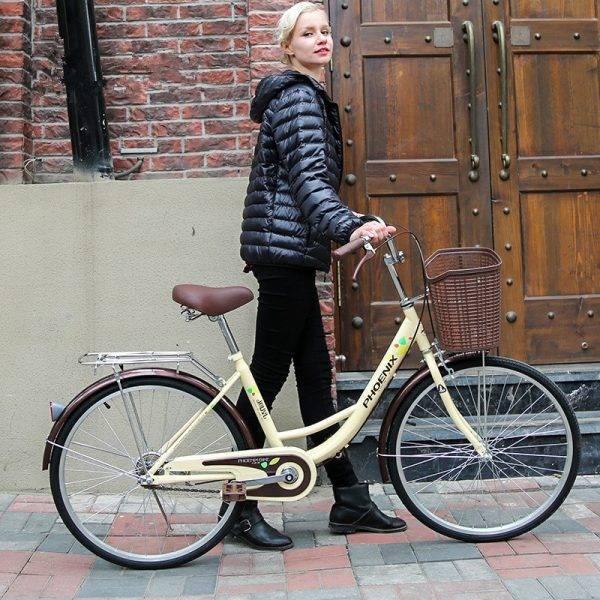 "24""26"" Bicycle Women Bike Adult Retro City Student Bicycle Drum Brake Bicycle For Woman bisiklet bicicleta bicicletas Car & Vehicle Electronics"
