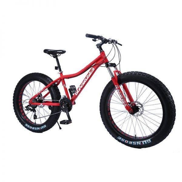 Fatbike 7/21/24/27 Variable Speed Off-Road Beach Snow Widened Big Wheel Fat Tire Mountain Bike Stunt MTB Bike for Men Women Car & Vehicle Electronics
