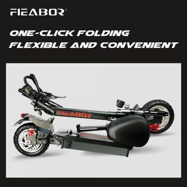 Adult Electric Scooter with seat foldable hoverboard fat tire electric kick scooter e 2400W Car & Vehicle Electronics