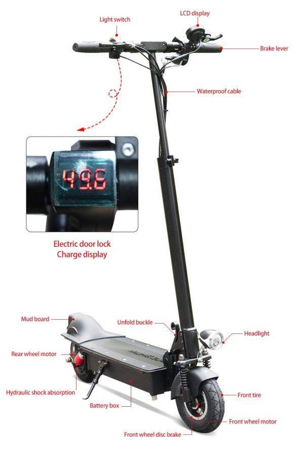 Best Sales 48V 1000W Electric Scooter 48V 18Ah 60km/h 8 inch Wheel Motor Folding electric skateboard for Adult Skate Scooter Car & Vehicle Electronics