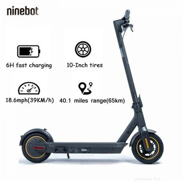 Top Original Ninebot Max G30 Smart Electric Scooter Cool Foldable KickScooter Hoverboard Adult teen 65km Dual Brake Skateboard Car & Vehicle Electronics