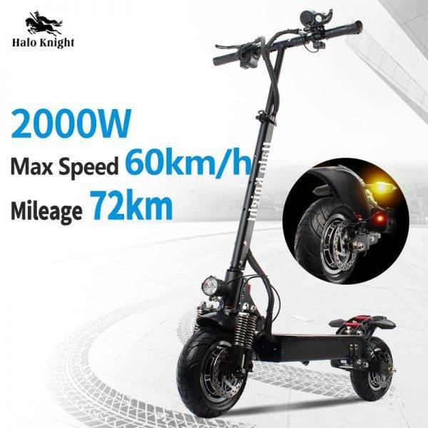 EU Stock ELectric Scooter Adults 2000W Hydraulic Brake Folding 60km/h Double Drive E Scooter With Turn Signals Car & Vehicle Electronics