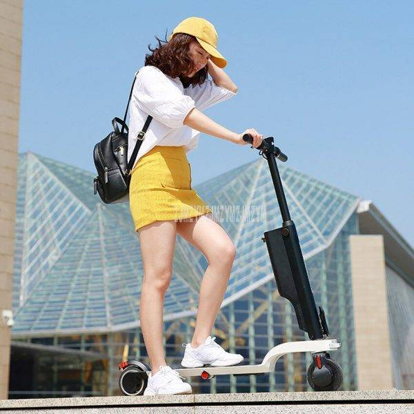 X6 Fashion Folable Backpack Electric Scooter Bluetooth Speaker Music Electric Scooter Instead Of Walking City Mini Adult Scooter Car & Vehicle Electronics