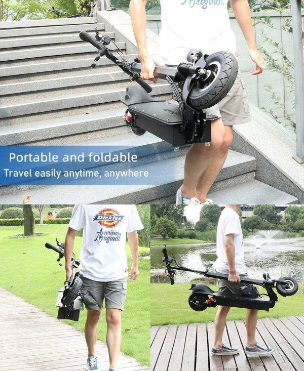 8 inch Folding Electric Scooters Adults Scooter Electric Battery 48V 800W 1000W e-scooter 80km/h Max speed trotinette electrique Car & Vehicle Electronics