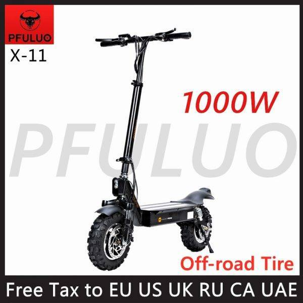 2020 New PFULUO X-11 Smart Electric Scooter 1000W Motor 11 inch 2 wheel Board hoverboard skateboard 50km/h Max Speed Off-road Car & Vehicle Electronics