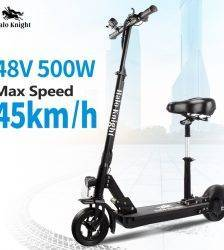 EU Stock 48V 500W Adult 45km/h Electric Scooter With Seat Halo Knight Powerful Folding E Kick Scooter With 45KM Range Battery Car & Vehicle Electronics
