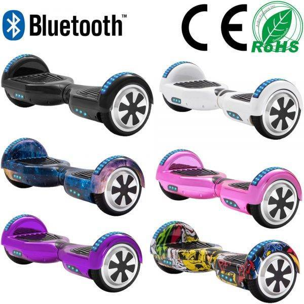 6.5 Inch Self-Balancing Scooters Cheap LED Electric Scooters Two Wheels Balance Skateboard Hoverboard For Kids Bluetooth+Bag Car & Vehicle Electronics
