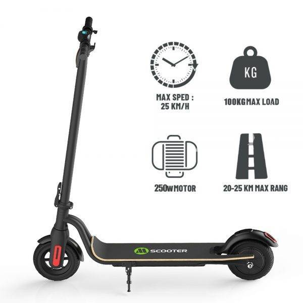 8 inch/6.5′ Electric Scooter Folding Two-wheeled Scooter Light Mini Lithium Battery With Auxiliary Wheel Bicycle Small Scooter Car & Vehicle Electronics