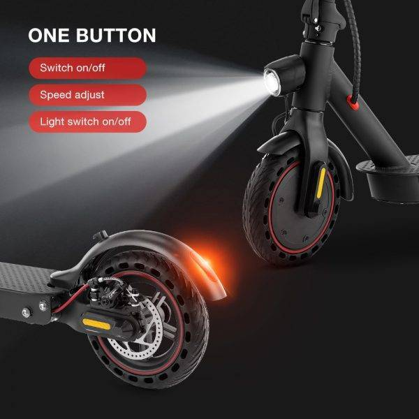 iScooter Patinete Electrico Electric Scooter Smart Folding Electric Hoverboard 350 W Electronic Brake Display Screen LED Light Car & Vehicle Electronics