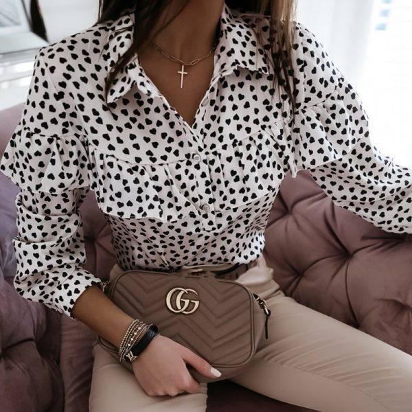 Lady Autumn Long Sleeve Polka Dot Ruffle Blouse Shirt Elegant Casual O Neck Buttons Pullover Women 2020 Spring streetwear Tops Blouses & Shirts WOMEN'S FASHION