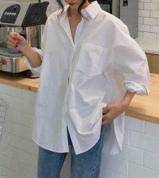 Spring Autumn Shirt Plus Size Harajuku Clothing Women Blouses Loose blusas Top Casual Retro White Shirts chemise blanche femme Blouses & Shirts WOMEN'S FASHION