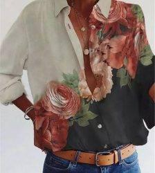 Long sleeve shirt woman Fashion new shirt loose big size temperament casual top Blouses & Shirts WOMEN'S FASHION