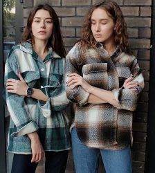 Plaid women oversize woolen shirts 2020 fashion ladies soft thick shirt party female elegant loose tops vintage girls chic shirt Blouses & Shirts WOMEN'S FASHION