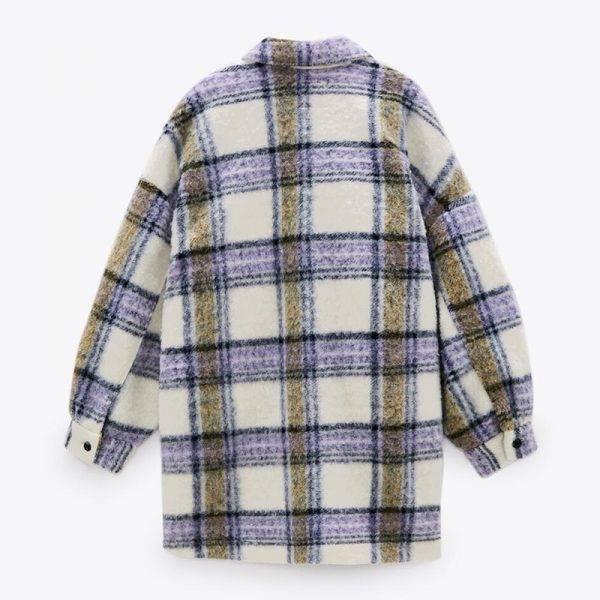 Malina Casual Turn Down Collar Blouses Women Fashion Loose Plaid Printed Shirts Women Elegant Pockets Tops Female Ladies IY Blouses & Shirts WOMEN'S FASHION