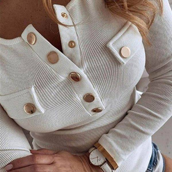 women Shirts Blouse Women Long Sleeve tops 2020 NEW Spring Elegant Button Female plus size Sexy V-Neck Slim Pullovers tops women Blouses & Shirts WOMEN'S FASHION