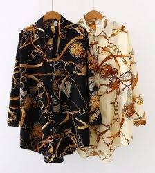 Plus size Fashion casual oversized Women Blouses 2020 Spring chiffon Blouse three quarter sleeve Loose Tops Shirts Blusas Mujer Blouses & Shirts WOMEN'S FASHION