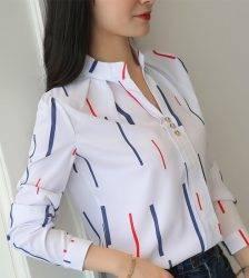 Women Tops And Blouses Office Lady Blouse Slim Shirts Women Blouses Plus Size Tops Casual Shirt Female Blusas Blouses & Shirts WOMEN'S FASHION