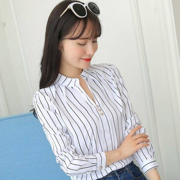 Women Tops And Blouses Office Lady Blouse Slim Shirts Women Blouses Plus Size Tops Casual Shirt Female Blusas Blouses & Shirts WOMEN'S FASHION