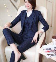 Formal Uniform Designs Pantsuits for Women Business Work Wear Ladies Office Autumn Winter Professional OL Blazers Fashion Plaid Pant Suits WOMEN'S FASHION