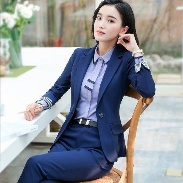 Women 2 Piece Set Formal Pants Suits Blazer Jacket Office Lady Work Business Uniform Trousers 2019 Autumn Clothing Large 4XL XXL Pant Suits WOMEN'S FASHION