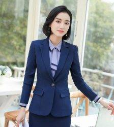 Women 2 Piece Set Formal Pants Suits Blazer Jacket Office Lady Work Business Uniform Trousers 2019 Autumn Clothing Large 4XL XXL Pant Suits WOMEN'S FASHION