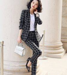 Casual Plaid Pant Suit Women S-5XL Female Blazer Suit Pink White Black Jacket Coat And Pant 2 Piece Set Pant Suits WOMEN'S FASHION