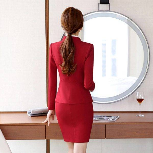 Female Elegant Business Uniform 2 Piece Set Pant Suits for Ladies Women's Business office Work Wear Blazers Trouser Sets Jacket Pant Suits WOMEN'S FASHION